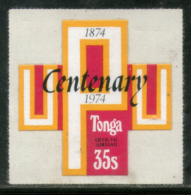 Tonga 1974 35s UPU Centenery Odd Shaped Die Cut Sc CO88 MNH # 478