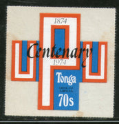 Tonga 1974 70s UPU Centenary Odd Shaped Die Cut Sc CO89 MNH # 479