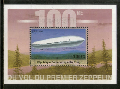 Congo Zaire 2001 First Graf Zeppilin Aviation Transport Sc 1590 M/s MNH # 489