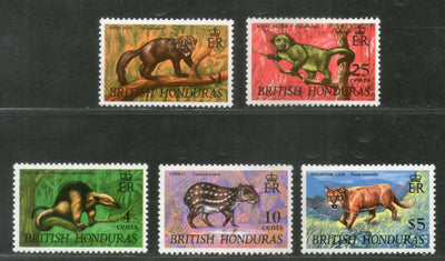 British Honduras 1968 Anteater Monkey Lion Dog Wildlife Animal Sc 217 MNH # 495