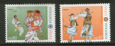 Portugal 2017 Traditional Dance Joints Issue with India Culture Art 2v MNH # 498
