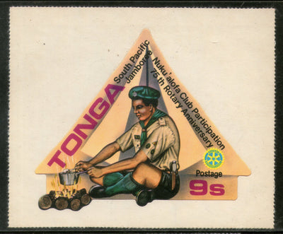 Tonga 1980 9s Boy Scout Jamboree Rotary International Odd Shaped Sc 474 MNH # 502