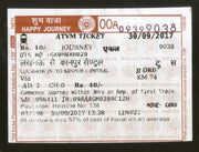 India Railway Platform ATVM Machine Ticket Traveling Tourism Used # 505A