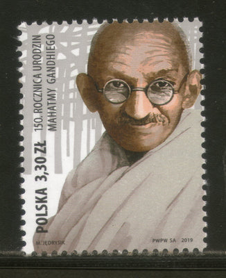 Poland 2019 Mahatma Gandhi of India 150th Birth Anniversary 1v MNH # 5221A