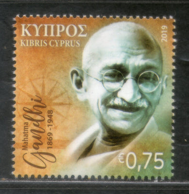 Cyprus 2019 Mahatma Gandhi of India 150th Birth Anniversary 1v MNH # 5223A