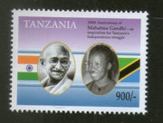 Tanzania 2019 Mahatma Gandhi of India 150th Birth Anniversary Flag 1v MNH # 5234A