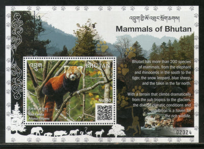 Bhutan 2019 Red Panda Wildlife Animals Species of Mammals M/s MNH # 5306