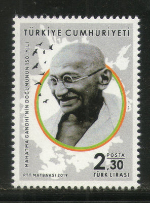 Turkey 2019 Mahatma Gandhi of India 150th Birth Anniversary 1v MNH # 5347A