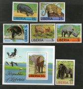 Liberia 1976 Elephant Leopard Wildlife Rhinoceros Animals Sc 763-C213 MNH # 5363