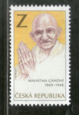 Czech Republic  2019 Mahatma Gandhi of India 150th Birth Anniversary 1v MNH # 5387A