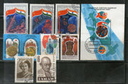 Russia USSR 10 Diff. Indian Themes Mahatma Gandhi Indira Gandhi Flag Red Fort Used Stamps # 5431
