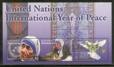 Dominica 2004 International Year of Peace Mother Teresa Nobel Prize Winner Sc 2515 M/s MNH # 5498