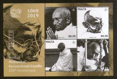 Malta 2019 Mahatma Gandhi of India 150th Birth Anniversary M/s MNH # 5642