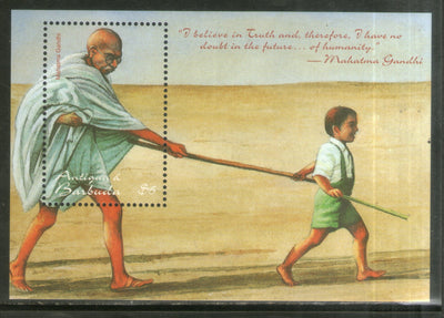 Antigua & Barbuda 1998 Mahatma Gandhi of India with Child Sc 2189 M/s MNH # 5642
