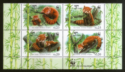 Bhutan 2009 WWF Red Panda Wildlife Animals Fauna Sc 1447 MNH # 5683