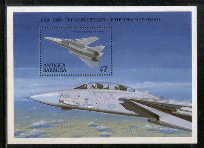 Antigua & Barbuda 1989 Jet Flight Aeroplane Aviation Transport Sc 1185 M/s MNH # 5740