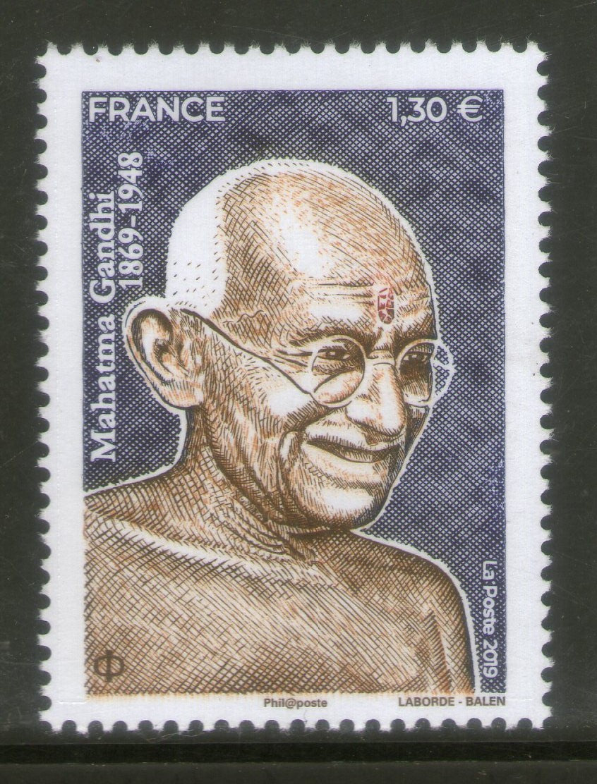 France 2019 Mahatma Gandhi of India 150th Birth Anniversary 1v MNH # 5833A