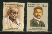 Sri Lanka 2019 Mahatma Gandhi of India 150th Birth Anniversary 2v MNH # 5838A