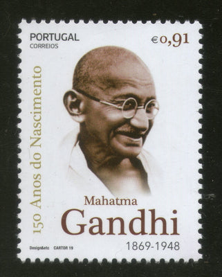 Portugal 2019 Mahatma Gandhi of India 150th Birth Anniversary 1v MNH # 5839A
