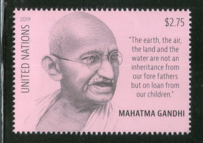 United Nations 2019 Mahatma Gandhi of India 150th Birth Anniversary 1v MNH # 5840A