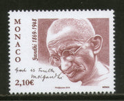 Monaco 2019 Mahatma Gandhi of India 150th Birth Anniversary 1v MNH # 5853A