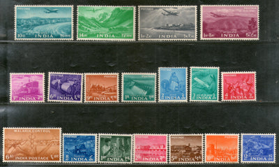 India 1955 2nd Definitive Series Five Year Plan - Complete Set of 18v Phila-D20-37 MNH # 5953