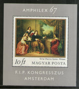 Hungary 1967 Painting Art Sc 1819 M/s MNH # 5996