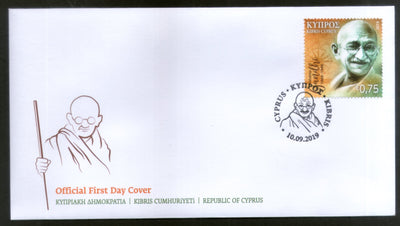 Cyprus 2019 Mahatma Gandhi of India 150th Birth Anniversary 1v FDC # 6134