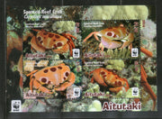 Aitutaki 2014 WWF Spotted Reef Crab Marine Life Animal Sc 626a MNH # 6190