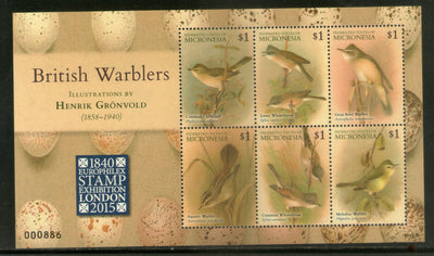 Micronesia 2015 British Warblers Birds Wildlife Fauna Sheetlet MNH # 6342