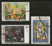"Luxembourg 2000 Modern Paintings Art ""Specimen"" Set of 3 Stamps MNH # 063 - Phil India Stamps"
