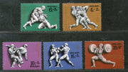 Russia 1977 USSR Moscow Olympic Games Wrestling Boxing Weight Lifting Sc B62-66 MNH # 641