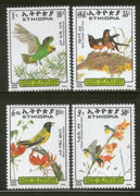 Ethiopia 1989 Parrot Birds Wildlife Animals Sc 1249-52 MNH # 646