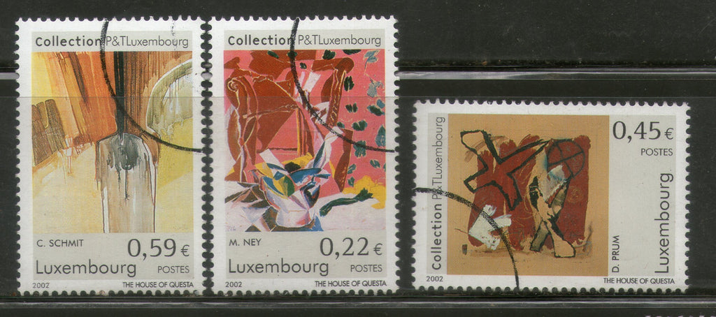 "Luxembourg 2002 Modern Art Paintings ""Specimen"" 3v Set MNH # 064 - Phil India Stamps"