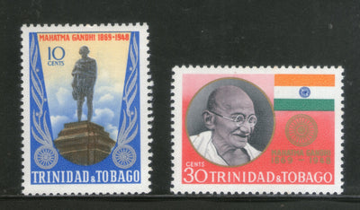 Trinidad & Tobago 1969 Mahatma Gandhi of India Birth Centenary Sc 181-82 MNH # 4397