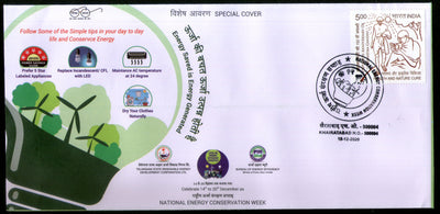 India 2020 National Energy Conservation Week Windmill Environment Special Cover # 6603