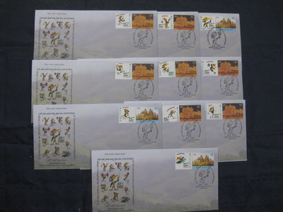 India 2015 10 Diff. Forest Sports Meet Games Mascot My Stamp Special Covers # 6863