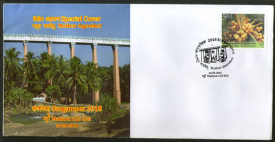 India 2018 Mathur Aqueduct Water for Irrigation Tourism Place Special Cover # 6898