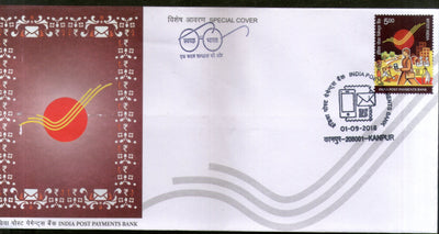 India 2018 India Post Payments Bank IPPB Kanpur Cancelled Special Cover # 6952