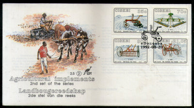 Ciskei 1990 Agricultural Implements Plough Farm Cow Sc 195-98 FDC # 7010