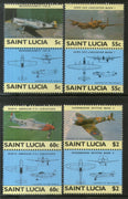 St. Lucia 1985 World War II Aircraft Aviation Sc 762-65 MNH # 701
