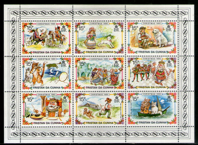 Tristan Da Cunha 1980 Christmas Children's Rhymes Sc 282 Sheetlet MNH # 7647