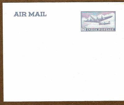 India 1958 90p Airmail Envelope Jain - AE9 MINT # 7663