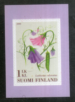Finland 2008 Flowers Plant Flora Sc 1308 Self Adhesive MNH # 773