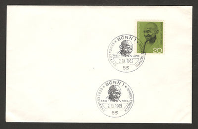 Germany 1969 Mahatma Gandhi of India Birth Centenary FDC RARE # 7903