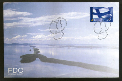Finland 2002 National Flag Map Island View FDC # 8037