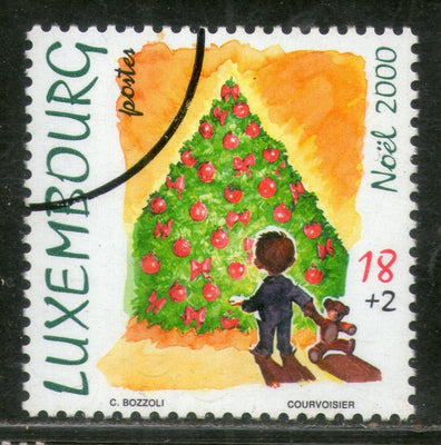 Luxembourg 2000 Christmas Tree Child Toy Sc B424 Specimen MNH # 805