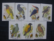St. Thomas & Prince Is. 1979 Birds Fauna Wildlife Sc 541-7 Max Cards Set # 8074