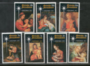 Grenada Grenadines 1977 Art Christmas Paintings By Correggio Rapheal Lippi Van Dyck Sc 229-35 MNH # 812