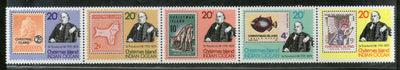 Christmas Islands 1979 Rowland Hill Stamps on Stamp Penny Map Strip of 5 Sc 90 MNH # 818